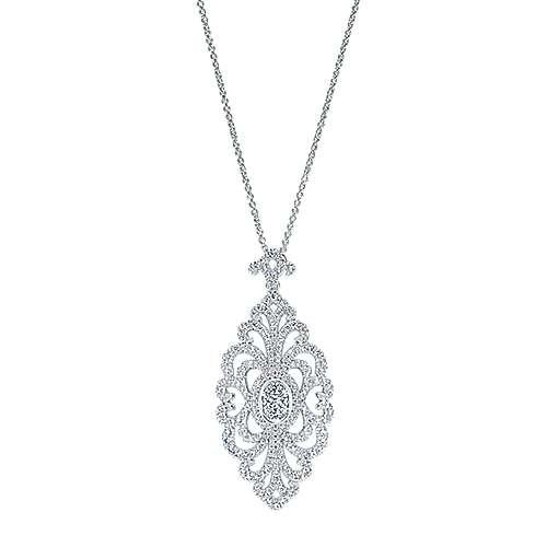 Gabriel - 18k White Gold Allure Fashion Necklace