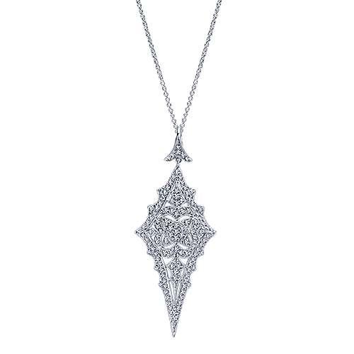 Gabriel - 18k White Gold Kaslique Fashion Necklace