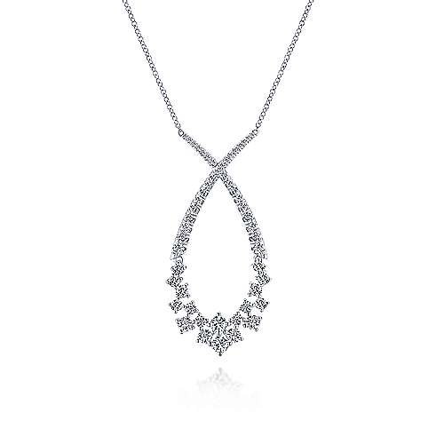 18k White Gold Diamond Fashion Necklace angle 1