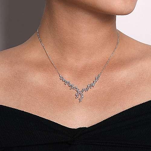 18k White Gold Diamond Fashion Necklace angle 3