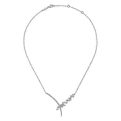 18k White Gold Diamond Fashion Necklace angle 2