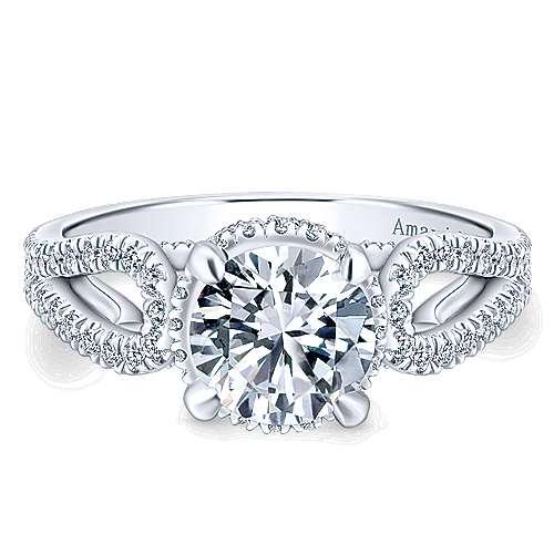 18k White Gold Diamond Halo