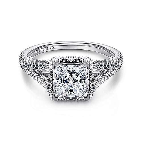 Gabriel - 18k White Gold Bouquet Engagement Ring