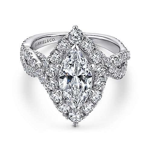 Gabriel - 18k White Gold Infinity Engagement Ring