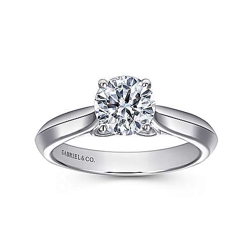 18k White Gold Diamond Solitaire Engagement Ring angle 5