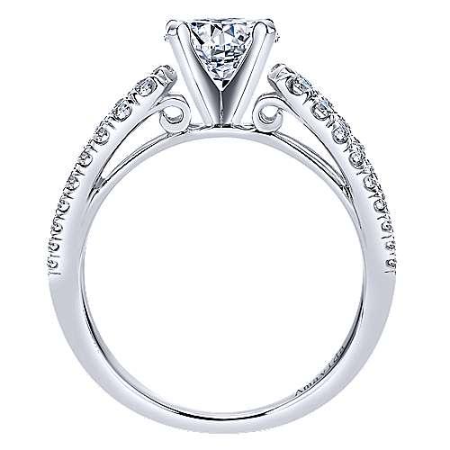 18k White Gold Diamond Split Shank Engagement Ring angle 2