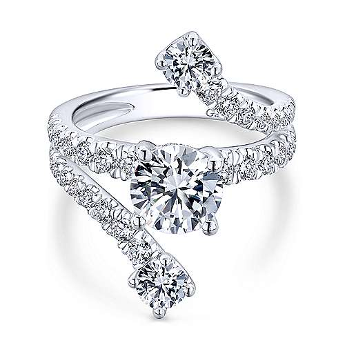 Gabriel - 18k White Gold Nova Engagement Ring