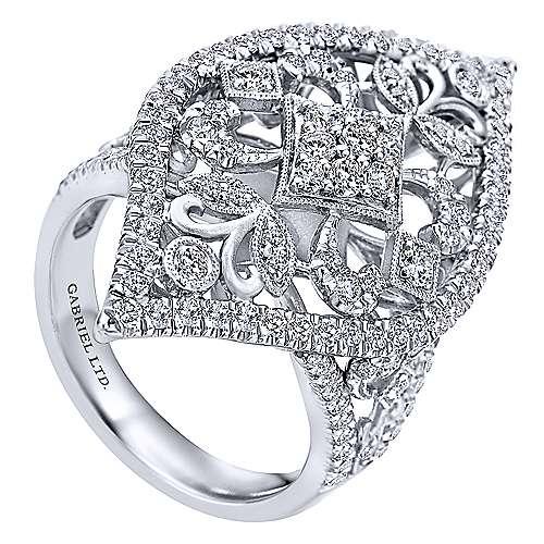 18k White Gold Diamond Statement Ladies