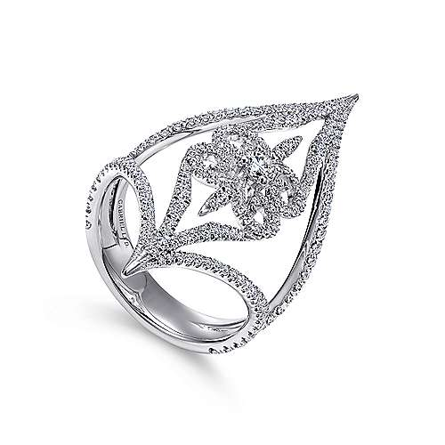 18k White Gold Diamond Statement Ladies