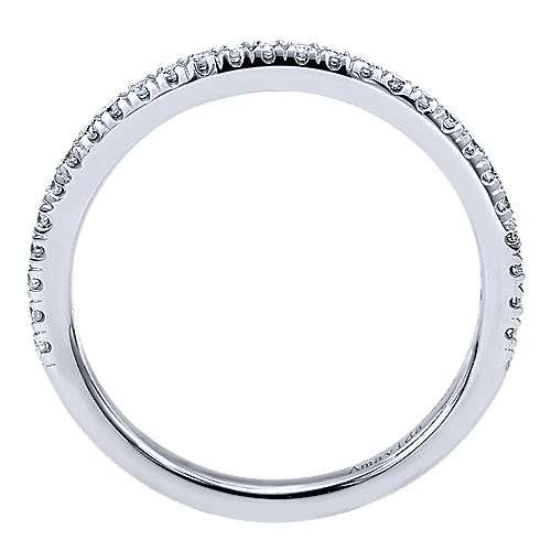 18k White Gold Diamond Straight Wedding Band angle 2