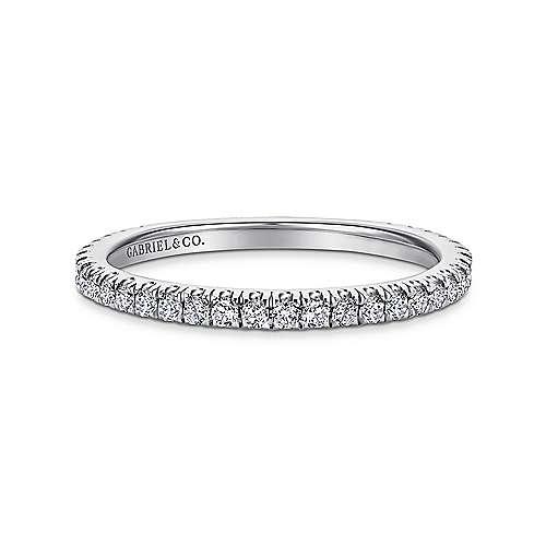 18k White Gold Diamond Straight