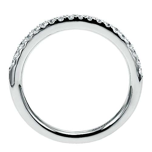 18k White Gold Diamond Straight Wedding Band angle 2