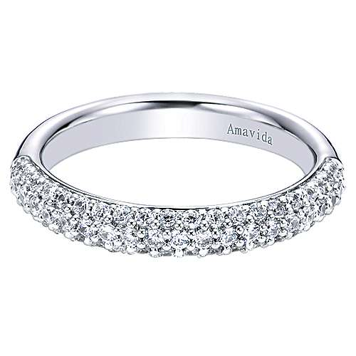 18k White Gold Contemporary Straight
