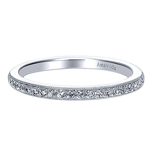 18k White Gold Diamond Straight
