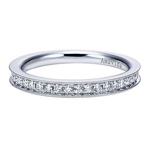 18k White Gold Victorian Straight