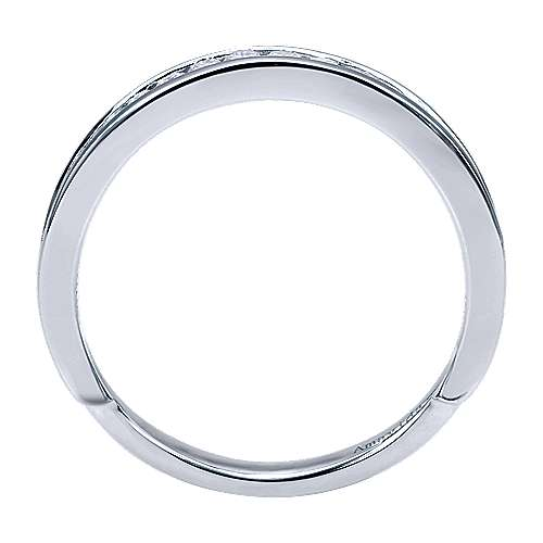 18k White Gold Diamond Wedding Band angle 2