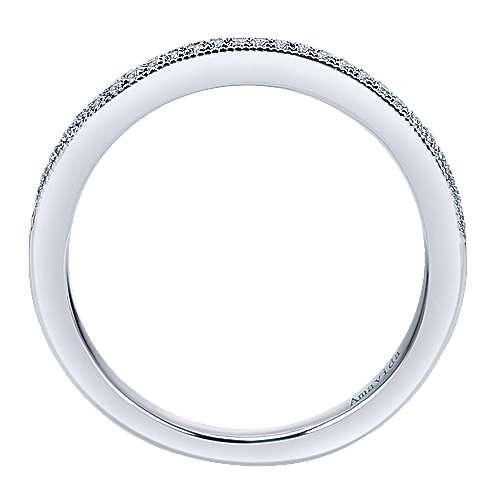 18k White Gold Diamond Wedding Band angle 2