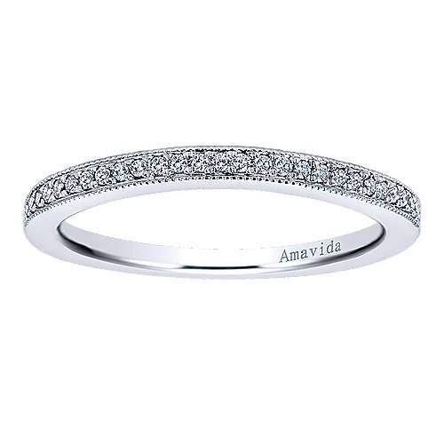 18k White Gold Diamond Wedding Band angle 5