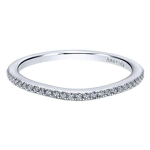 18k White Gold Diamond Wedding Band angle 1