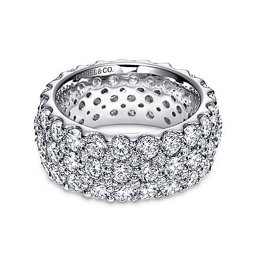 Gabriel - 18k White Gold Fancy Micro Pavé Eternity Band