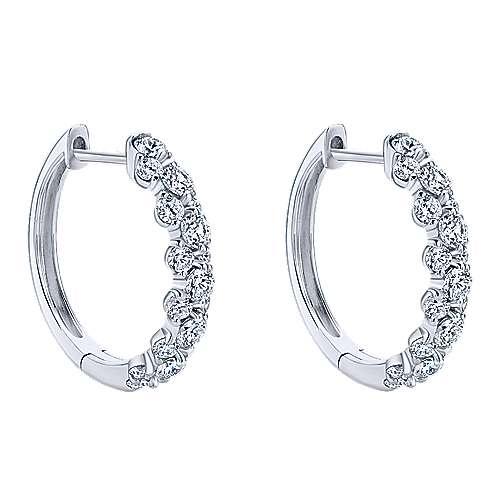 Gabriel - 18k White Gold Huggies Huggie Earrings