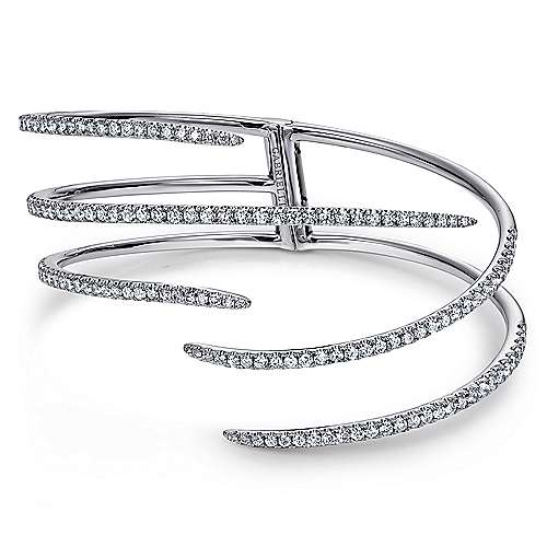 18k White Gold Kaslique Bangle angle 1