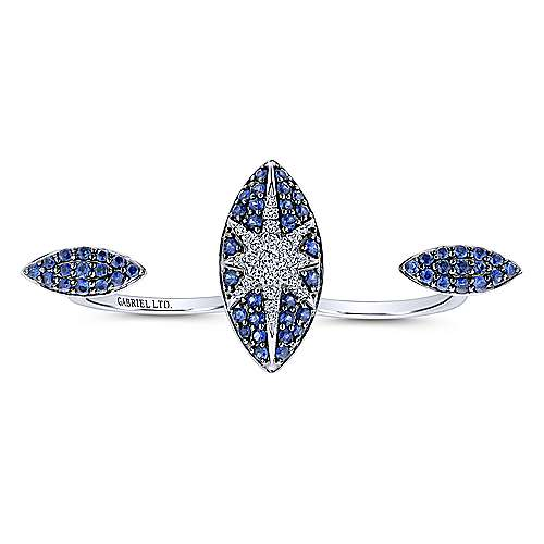 18k White Gold Kaslique Double Ring Ladies' Ring angle 4