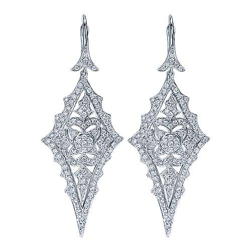 Gabriel - 18k White Gold Kaslique Drop Earrings