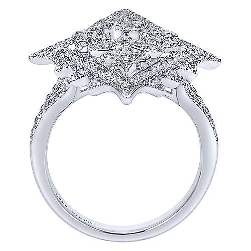 18k White Gold Kaslique Fashion Ladies' Ring angle 2