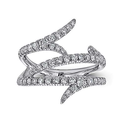 18k White Gold Kaslique Fashion Ladies