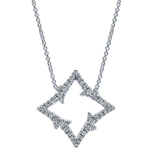 18k White Gold Kaslique Fashion Necklace angle 1