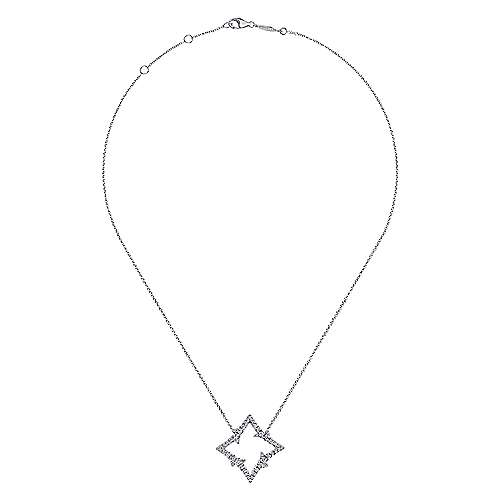 18k White Gold Kaslique Fashion Necklace angle 2