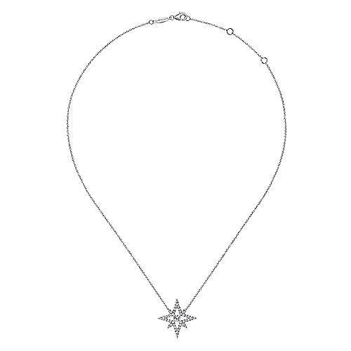 18k White Gold Kaslique Fashion Necklace angle 2