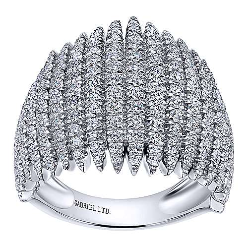 18k White Gold Kaslique Wide Band Ladies