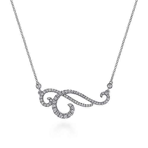 18k White Gold Lusso Bar Necklace