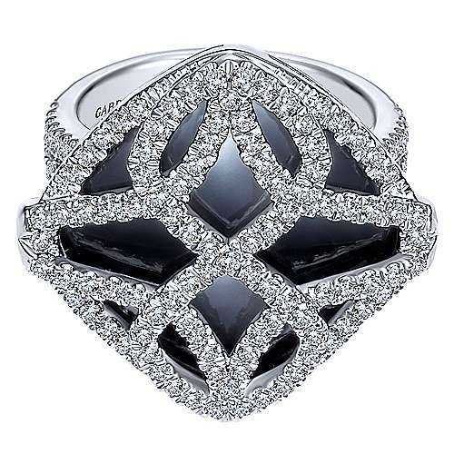 Gabriel - 18k White Gold Lusso Color Fashion Ladies' Ring