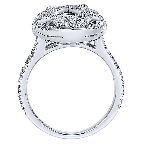 18k White Gold Lusso Color Fashion Ladies' Ring angle 2