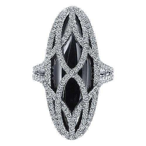 18k White Gold Lusso Color Fashion Ladies' Ring angle 4