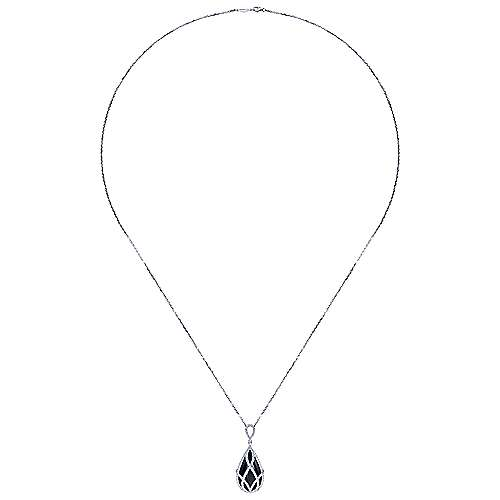 18k White Gold Lusso Color Fashion Necklace angle 2