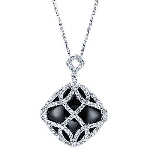 Gabriel - 18k White Gold Lusso Color Fashion Necklace