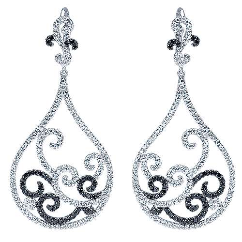 Gabriel - 18k White Gold Lusso Drop Earrings