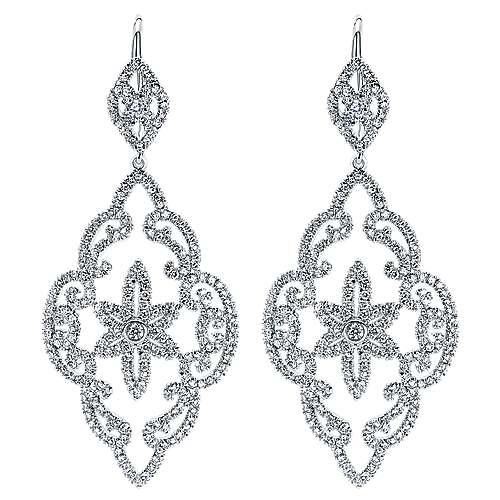 Gabriel - 18k White Gold Lusso Drop Earrings