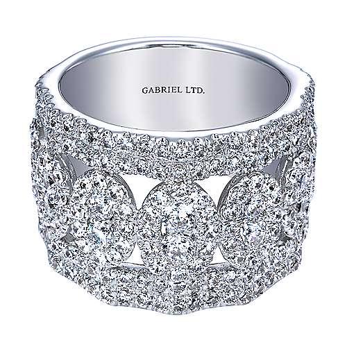 Gabriel - 18k White Gold Lusso Fashion Ladies' Ring