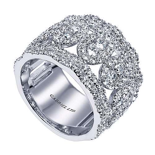 18k White Gold Lusso Fashion Ladies' Ring angle 3