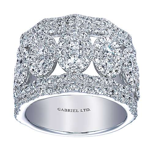 18k White Gold Lusso Fashion Ladies' Ring angle 5