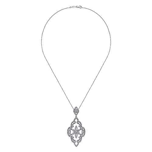 18k White Gold Lusso Fashion Necklace angle 2