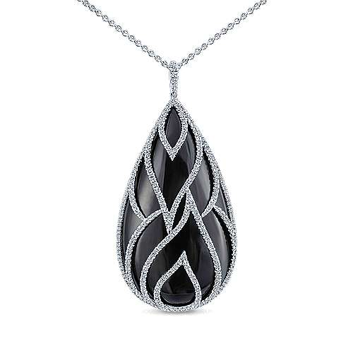 18k White Gold Lusso Fashion Necklace angle 1