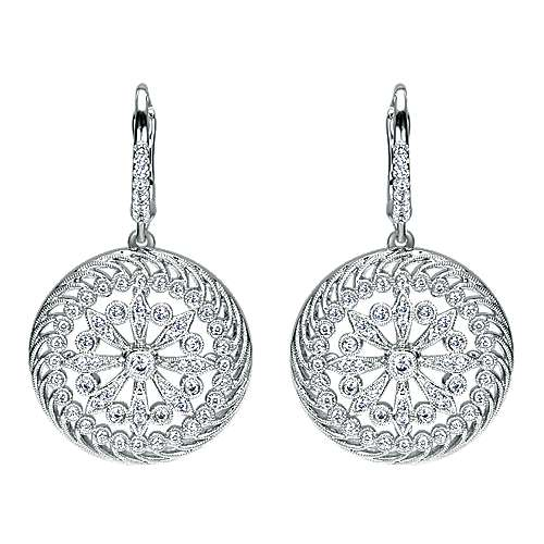 18k White Gold Mediterranean Drop Earrings angle 1