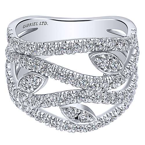 18k White Gold Mediterranean Fashion Ladies