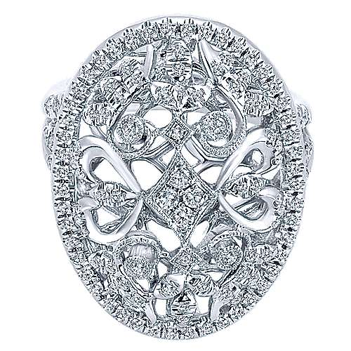 Gabriel - 18k White Gold Mediterranean Fashion Ladies' Ring
